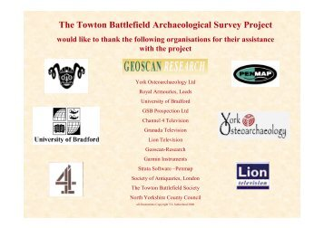 The Towton Battlefield Archaeological Survey Project - International ...