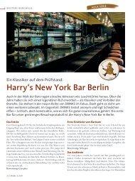 Harry's New York Bar Berlin - Drinks - Das Magazin für Barkeeper ...