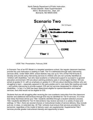 Scenario Two - North Dakota Department of Public Instruction