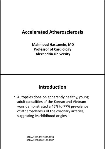 Accelerated Atherosclerosis Introduction