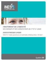 Volet 2 - INESSS