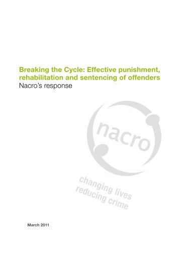Nacro's response to Breaking the Cycle Green Paper
