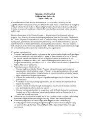MISSION STATEMENT Valdosta State University Theatre Program ...