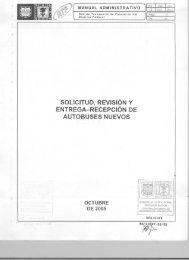 Solicitud, Revisión y Entrega-Recepción de Autobuses Nuevos - RTP