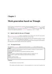 Mesh generation based on Triangle - Oomph-lib