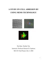 A STUDY ON CELL ADHESION BY USING MEMS TECHNOLOGY