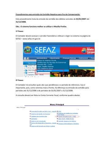 Débitos Vencidos até 31/12/2006 - Sefaz
