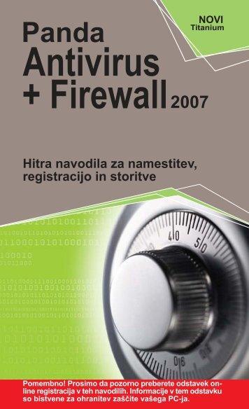 PANDA ANTIVIRUS + FIREWALL 2007.pdf - E-Misija