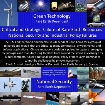 Critical and Strategic Failure of Rare Earth Resources National ...
