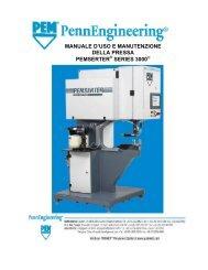 manuale d'uso e manutenzione della pressa pemserter series 3000