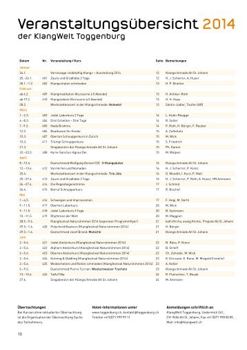 2014 Veranstaltungsübersicht inkl. Kursprogramm als PDF-Dokument