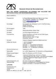 DSB Info f-374r zuk-374nftige Kollegen 2013 - DSB | Kairo