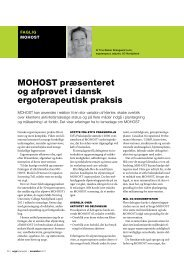 MoHost præsenteret og afprøvet i dansk ergoterapeutisk ... - UC Viden