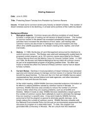 Briefing Statement - Desert Managers Group