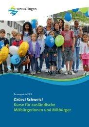 Grüezi Schweiz! Kurse für ausländische Mitbürgerinnen und Mitbürger