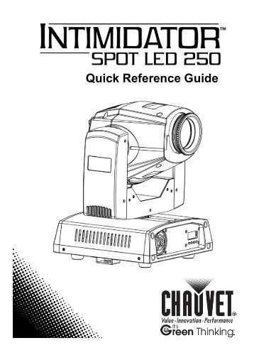 chauvet intimidator spot led 250 manual