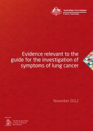 systematic literature review - Cancer Australia