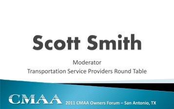 Moderator Transportation Service Providers Round Table - CMAA