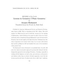 REVIEW of the book Lessons in Geometry I Plane Geometry by ...