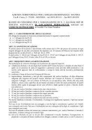 azienda territoriale per l'edilizia residenziale di ... - ATER MATERA