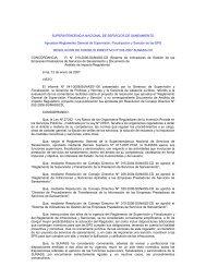 SUPERINTENDENCIA NACIONAL DE ... - sedapal.com.pe