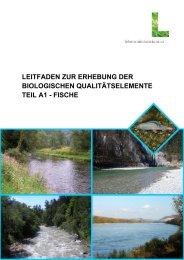 LEITFADEN ZUR ERHEBUNG DER BIOLOGISCHEN ... - Vorarlberg