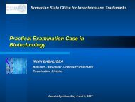 Examination Approach in Biotechnology: grantig of RO120003 - WIPO