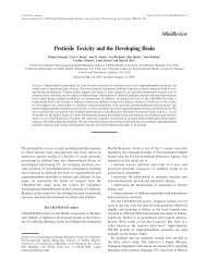 Pesticide Toxicity and the Developing Brain - Environmental Health ...