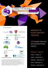 Taking It The World - Australian Plastics In Global Markets