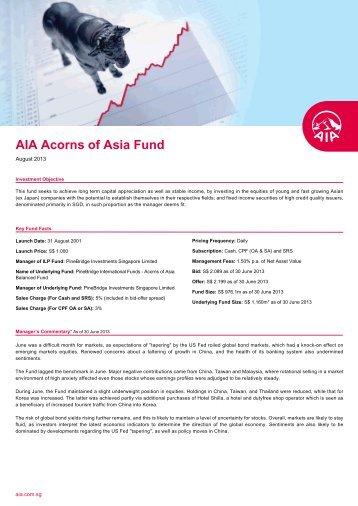 Download Fund Factsheet - AIA Singapore