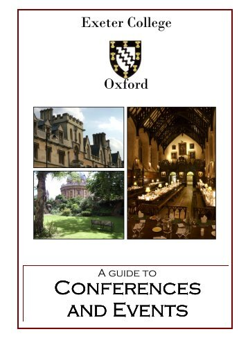 a guide to conferences and events - Exeter College - University of ...