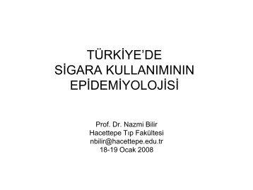 türkiye'de sigara kullanımının epidemiyolojisi