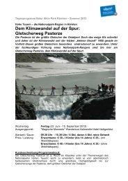 Dem Klimawandel auf der Spur: Gletscherweg Pasterze
