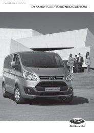 Preisliste Transit Tourneo Custom - Autoservice Wenzel