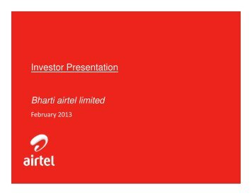 investor presentation February'13 - Airtel
