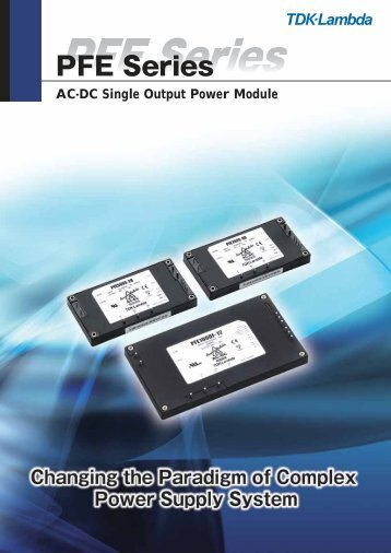 AC-DC Single Output Power Module - TDK-Lambda