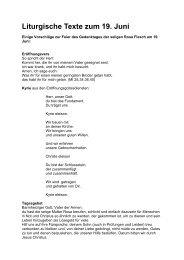 Liturgische Hilfen - Waldbreitbacher Franziskanerinnen
