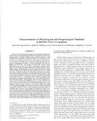 Characterization of Physiological and Morphological Variability in ...