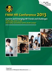 FMM HR Conference 2013 - Federation of Malaysian Manufacturers