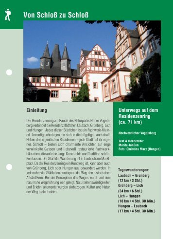 Von Schloß zu Schloß Foto - Vogelsberg Touristik