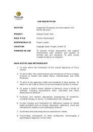 JOB DESCRIPTION SECTION Supported Temporary ... - Focus Ireland