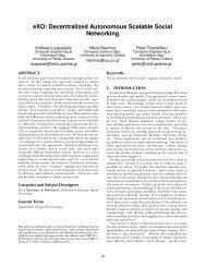 eXO: Decentralized Autonomous Scalable Social Networking - CIDR