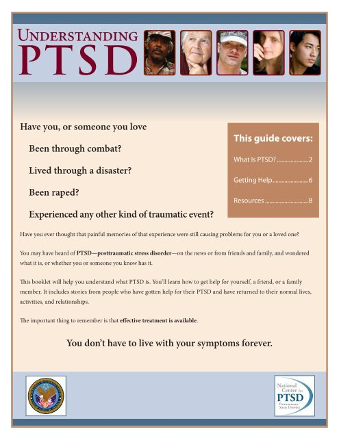 Understanding PTSD Booklet - NC Operation Recovery