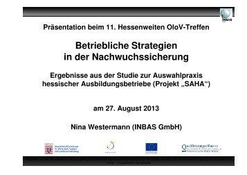 Betriebliche Strategien in der Nachwuchssicherung – Studie ... - OloV