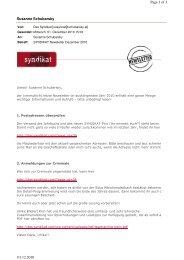 Newsletter Dezember 2010 - Das Syndikat