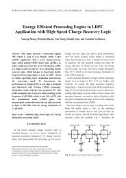 Energy Efficient Processing Engine in LDPC Application with ... - JSTS