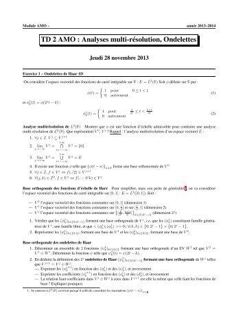 TD 2 AMO : Temps-Fréquence (STFT, Ondelettes) - IA