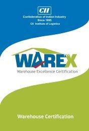 Warehouse Certification - CII Institute of Logistics