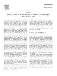 Parental involvement laws and parent–daughter communication ...