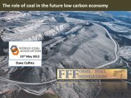 The role of coal in the future low carbon economy - World Coal ...